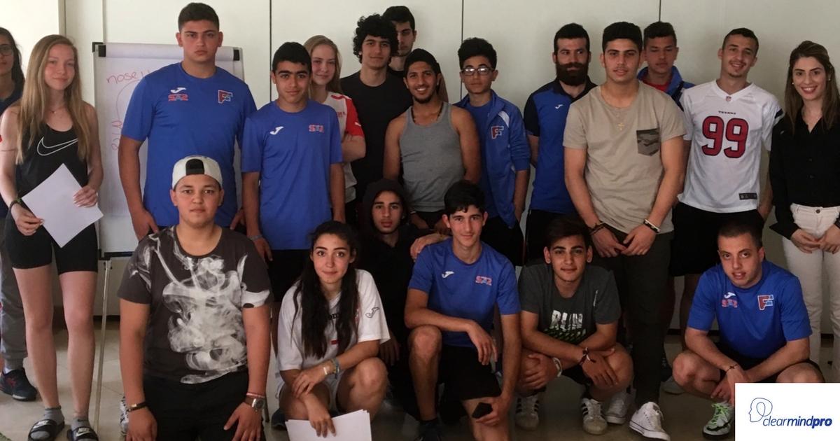 Βιωματικό Εργαστήριο Αθλητικής Ψυχολογίας σε ομάδα αθλητών από τον Λίβανο